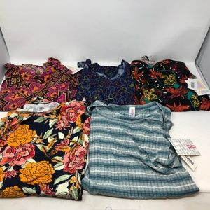 Lularoe bundle lot 5 Classic T shirts sz S NWT